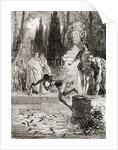 Publius Vedius Pollio, Roman equestrian, feeding a slave to his lamprey eels by French School