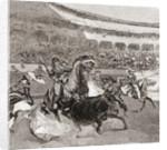 A bullfight in Seville, Spain by John Henry Ellsworth Whitney