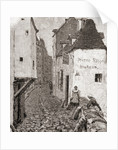 A street in old Paris in the 19th century by American School