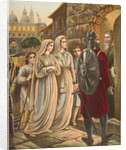 The Pilgrims at the house of Manson by English School