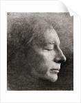The death mask of John Keats by American School