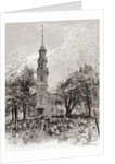 St. Paul's Church, New York, in the 19th century by American School