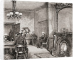 The waiting room in the White House, Washington D.C., in the 19th century by American School