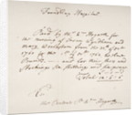 Foundling Hospital receipt, signed by William Hogarth by English School