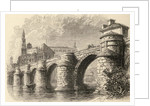 Bridge at Saragossa, Spain by English School
