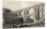 Aqueduct of the Emperor Valens, near Pyrgo, Turkey by William Henry Bartlett
