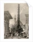 The Tchernberle Tash, Constantinople, Istanbul, Turkey by William Henry Bartlett