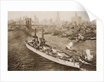 The United States Battleship, Texas, Setting out from New York Harbour by English School