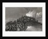 Destruction of the schooner Gaspe in the waters of Rhode Island by J. McNevin