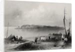 Navy Island, Niagara River, Ontario, Canada by William Henry Bartlett