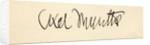 Signature of Axel Martin Fredrik Munthe by English School