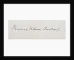 Signature of Frances Cleveland Preston by American School