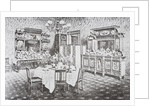 Family dining room of The White House in the 1890s by American School