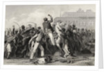 Death of Colonel Finnis at Meerut by English School