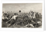 Charge of the Highlanders before Cawnpore under General Havelock by English School