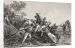 Fugitive British officers and their families attacked by mutineers by English School