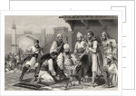 Sikh troops dividing the spoil taken from mutineers by English School