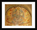 Christ in Majesty flanked by seraphim and symbols of the Evangelists by Spanish School