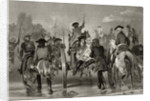 Mortally wounded General Edward Braddock retreats from the Monongahela River in 1755 after an attack from French and Indian Forces by Alonzo Chappel