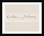 Signature of Andrew Johnson by American School