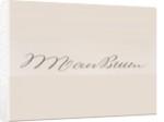 Signature of Martin van Buren by American School