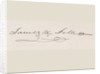 Signature of James Knox Polk by American School