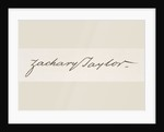 Signature of Zachary Taylor by American School
