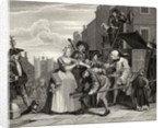 Arrested for Debt, plate V from 'A Rake's Progress' by William Hogarth