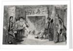 Francis Osbaldistone at Squire Inglewood's by George Cruikshank