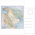 Map of Turkey, Middle East Horn of Africa and Persian Gulf in the 1890s by English School
