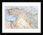 Partial Map of Middle East in the 1890s by English School
