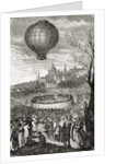 The First Aerial Voyage, Paris, 21st October 1783 by French School