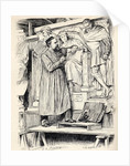 Armstead at Work, engraving after a drawing by Wirgman by Theodore Blake Wirgman