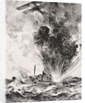 German submarine bombed and sunk August 26 1915 by English School