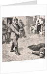 Imaginary drawings of execution of Edith Louisa Cavell, 12th October 1915 by English School