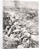 German troops charge against British trenches by English School