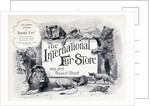 Advertisement for 'The International Fur Store', Regent Street, London by English School