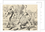 Father William balancing an eel on his nose by John Tenniel