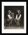 Double portrait of Toulouse-Lautrec by French Photographer