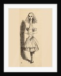 Alice grows taller by John Tenniel