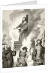Execution of the English Lollard priest, William Sawtrey in March 1401 by English School