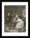 John Knox admonishing Mary Queen of Scots about her planned marriage to Don Carlos by English School