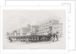 Calcutta, the Esplanade by Thomas Allom