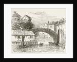 Fleet Bridge, London in the 17th century by English School
