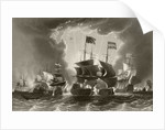 Defeat of the Dutch fleet by Admiral Robert Blake at the Battle of the Gabbard, 12 and 13 June 1653 by English School
