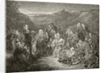 An open air meeting of Scottish Covenanters by English School