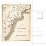 Map to illustrate the War of American Independence by English School