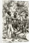 Semi-civilised Victorian Aborigines by English School