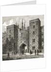 The Chancery Lane Gate of Lincoln's Inn by English School