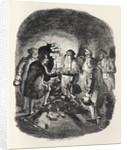 Little Jack Ingoldsby entering the cellar by John Leech